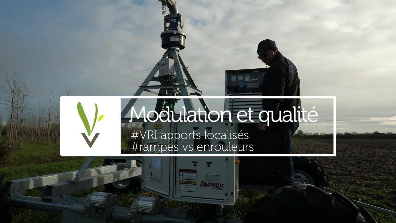 Modulation et qualité : VRI apports localisés + rampes VS enrouleurs