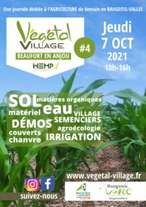 Affiche Végétal Village 2021